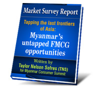 Register and receive a copy of this Myanmar FMCG survey report