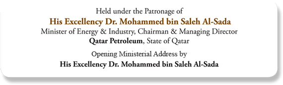 Held under the Patronage of His Excellency Dr. Mohammed bin Saleh Al-Sada