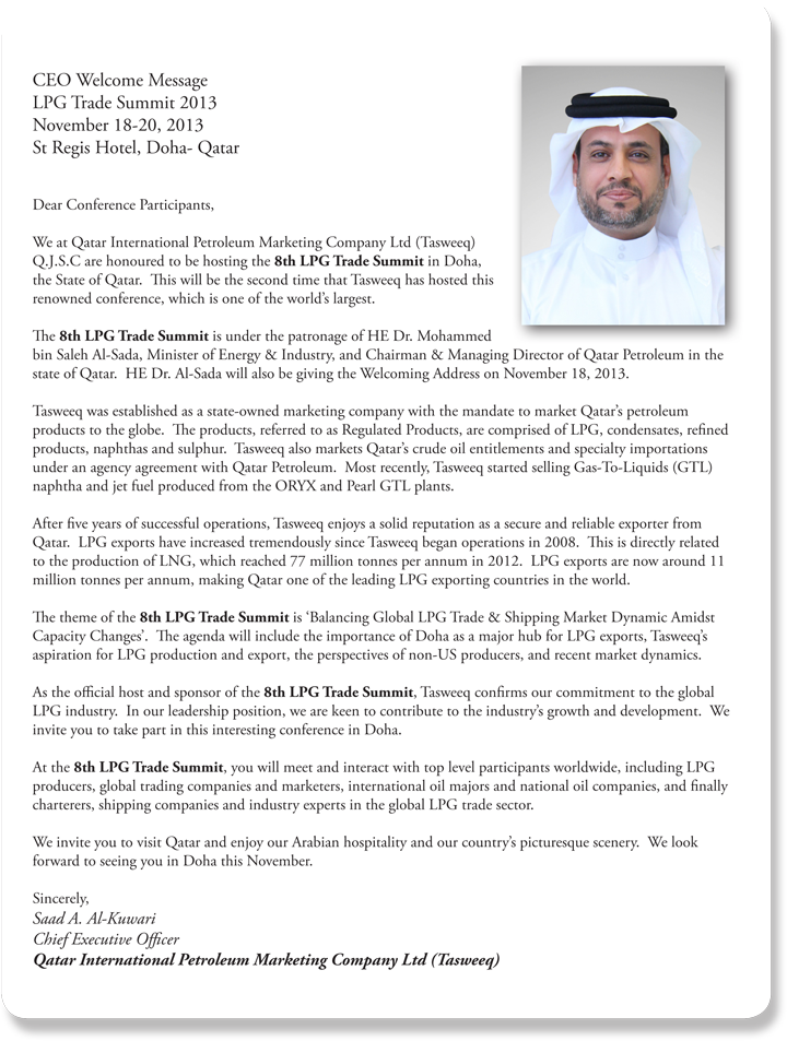 TASWEEQ CEO's Welcome Message