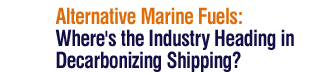 Alternative Marine Fuels: Where's the Industry Heading in Decarbonizing Shipping?,