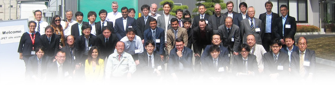 Group Photo of JPET 2015 - Japan PET Resin Trade, Fibers, Apps & Recycling / RPET Delegates and speakers taken at Kyoei Industry Plant in Japan