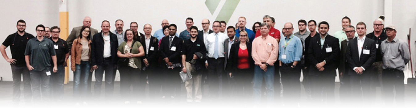 Group photo of NAPET 2014-North America PET Markets, Trade, Recycling delegates and speakers taken at Verdeco Recycling Facility in California, USA.