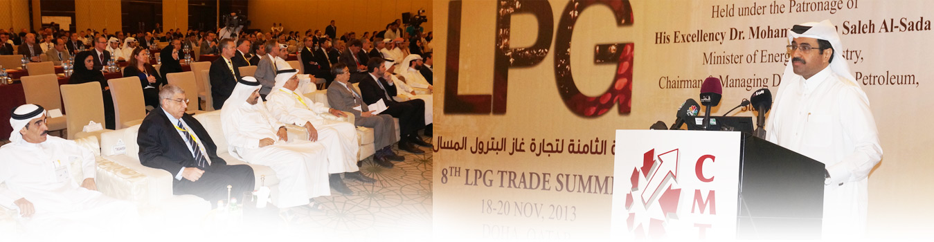 H E Dr.Mohammed bin Saleh Al-Sada Minister of Energy & Industry, Chairman & Mangaing Director Qatar Petroleum Presenting the Keynote Opening Address at 8th LPG Trade Summit on 18-20 Nov 2013 in Doha Qatar
